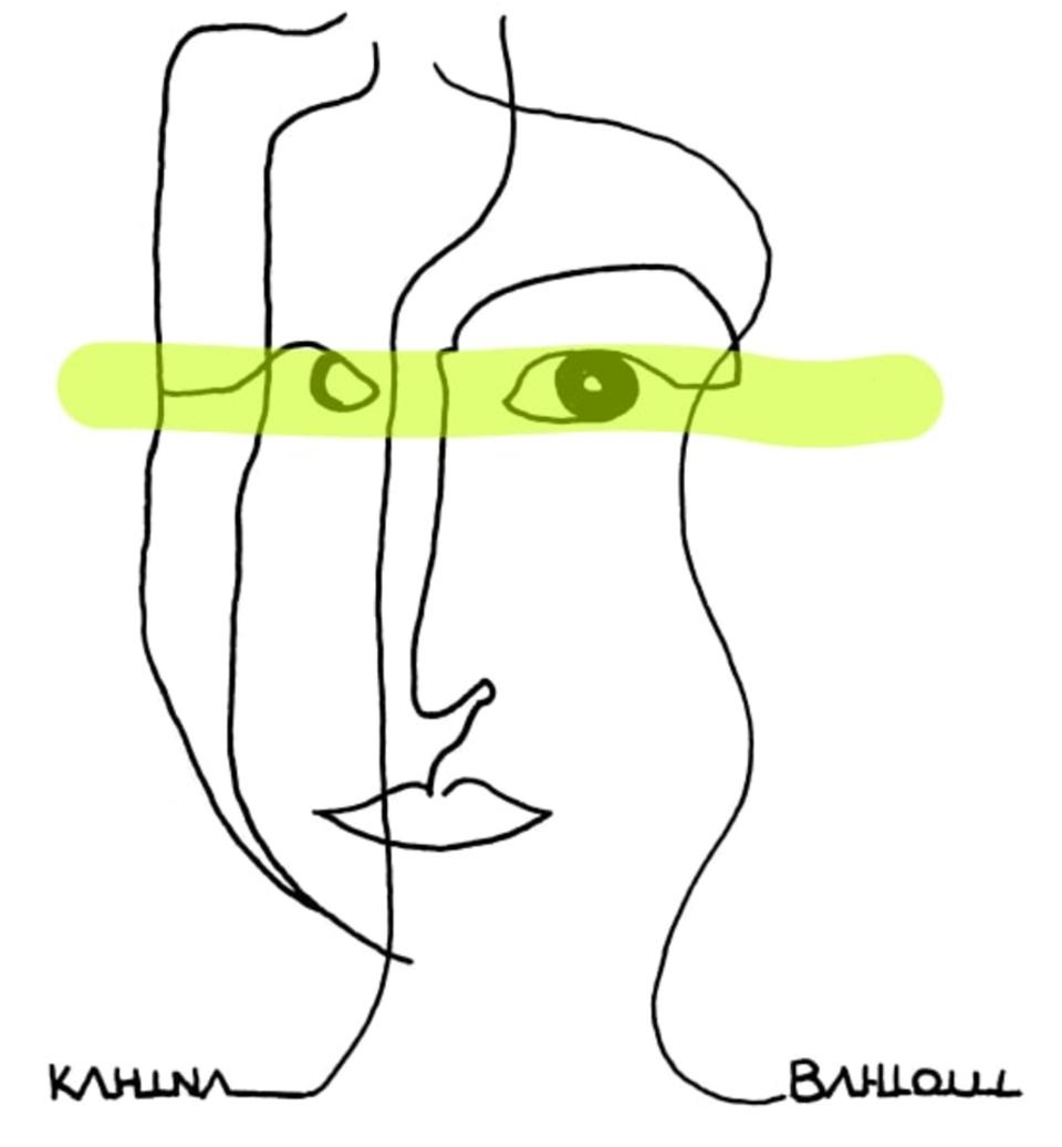 Portrait de Kahina Bahloul, illustration de Jade Bourgery
