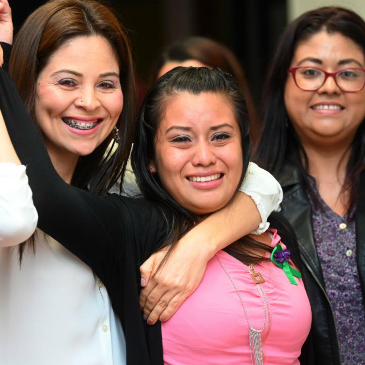 Evelyn Hernandez après son acquittement