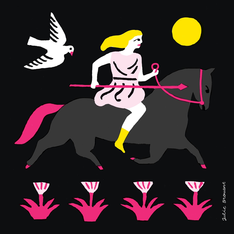 Amazones, illustration par Julie Brouant