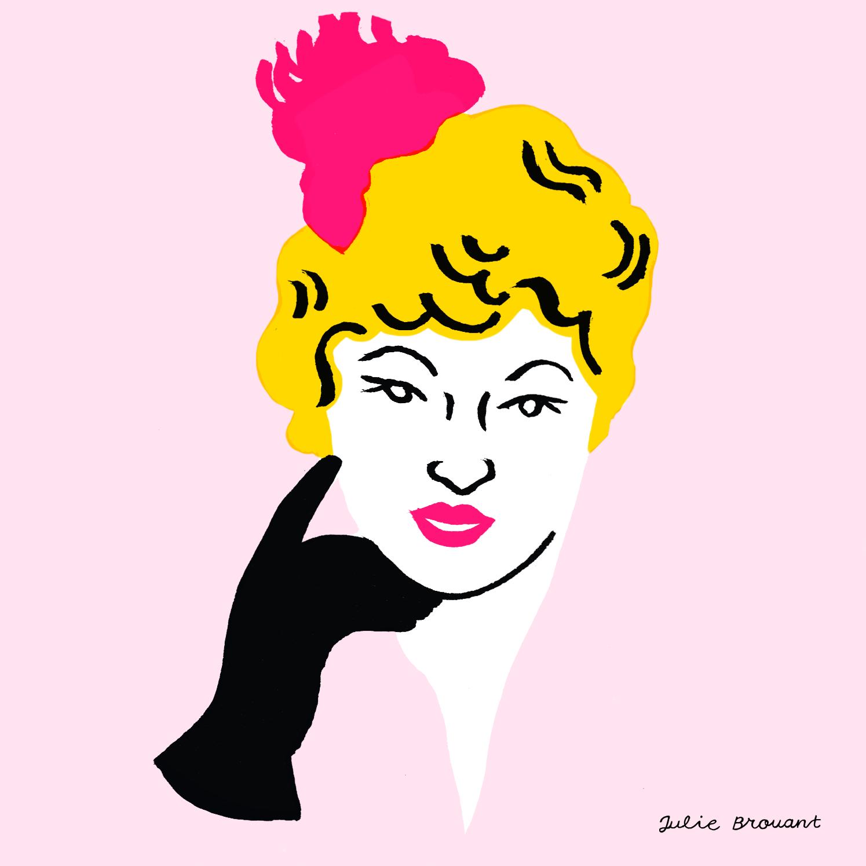 Mae West, illustration par Julie Brouant