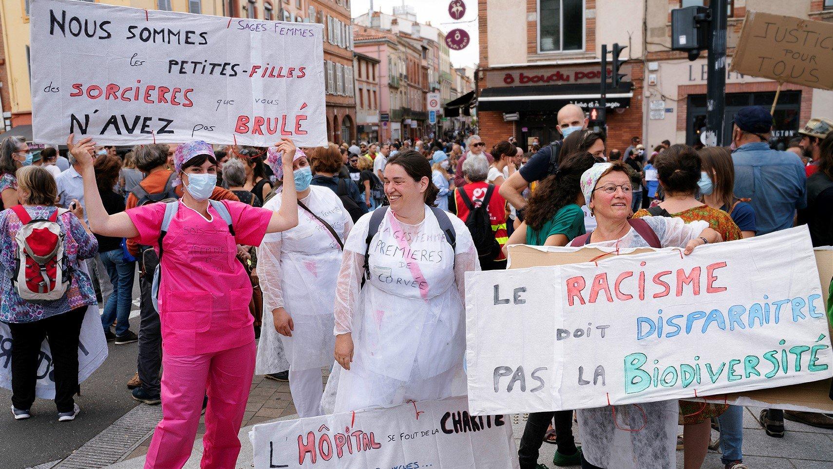 Manifestation soignantes féministe Toulouse