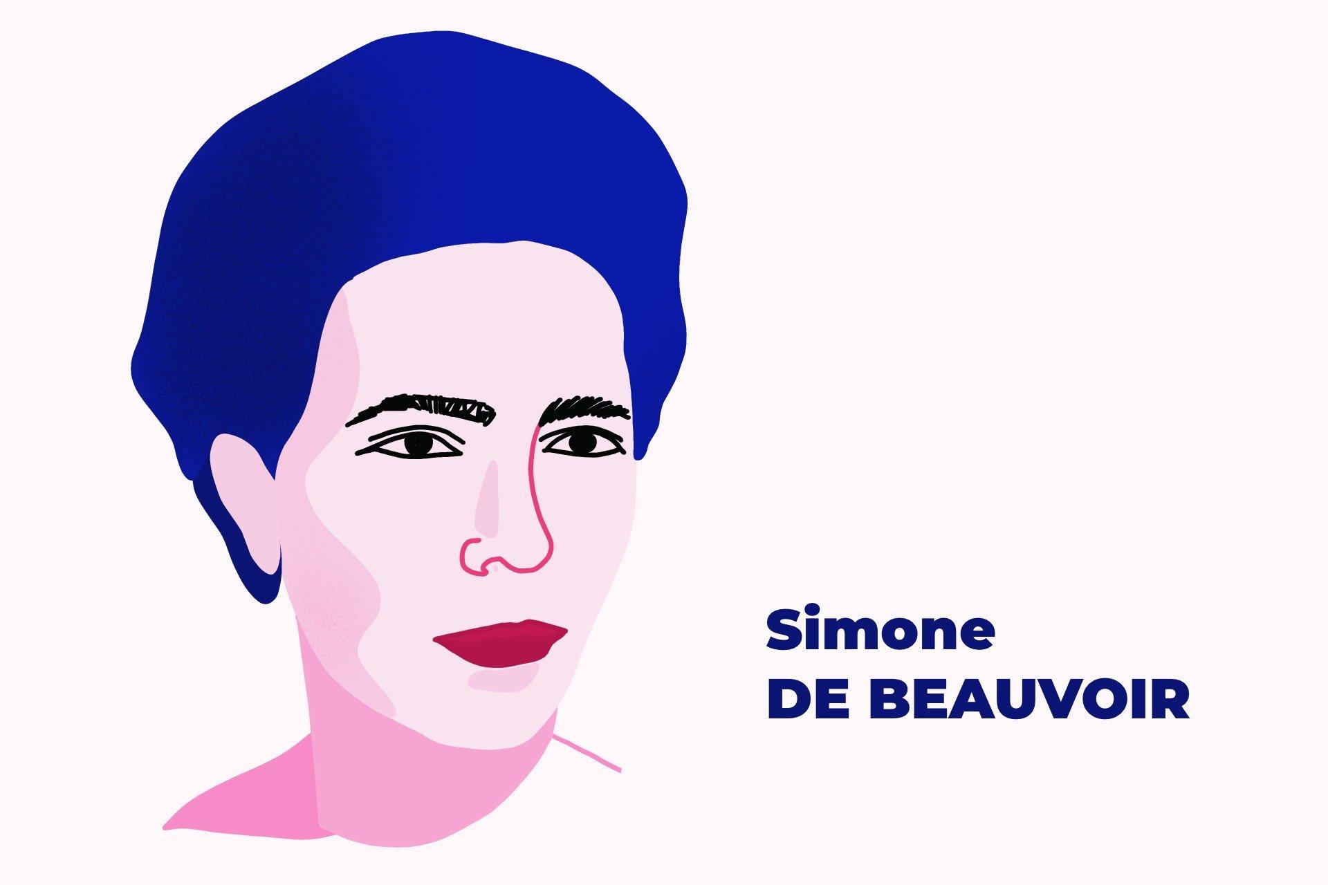 Simone de Beauvoir, illustration par Laurie Cibert Gothon