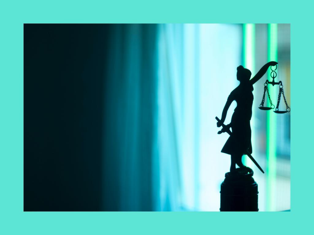 Statuette justice, article présomption d'innocence
