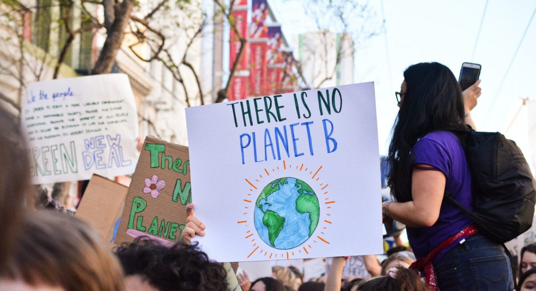 Manifestation écologie, écoféminisme