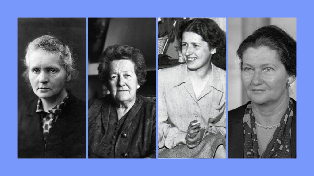 Marie Curie, Germaine Tillion, Geneviève De Gaulle Anthonioz, Simone Veil
