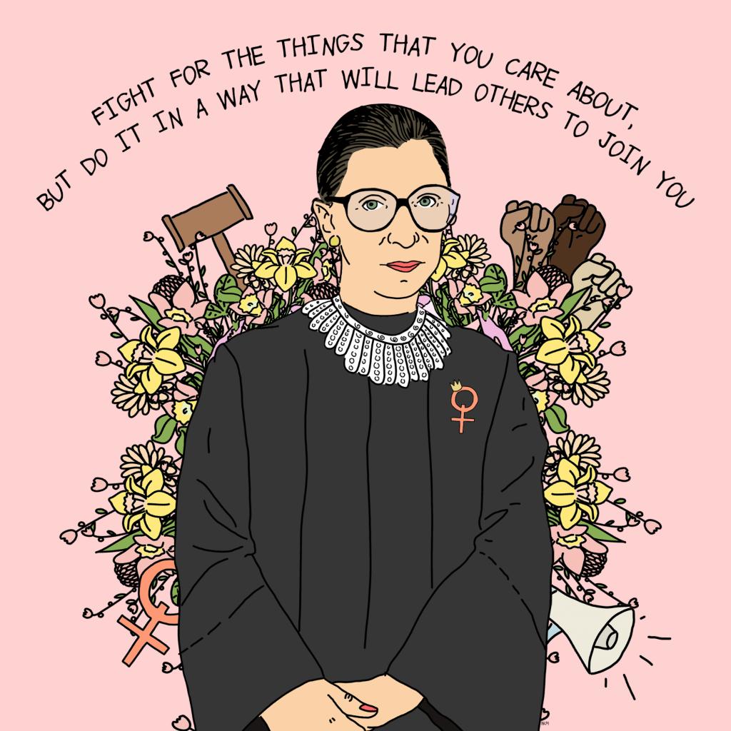 Ruth Bader Ginsburg, illustration par Handsome Girl Design