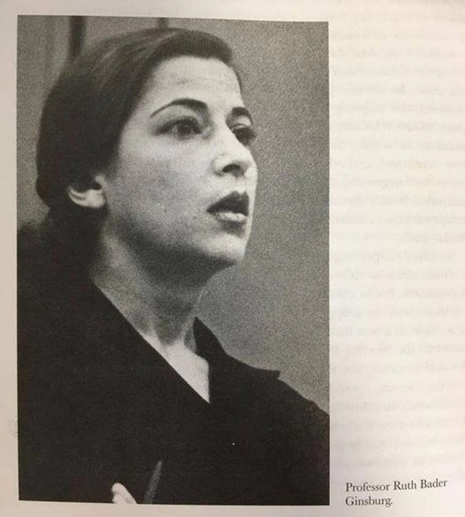 Ruth Bader Ginsburg, portrait de la professeure