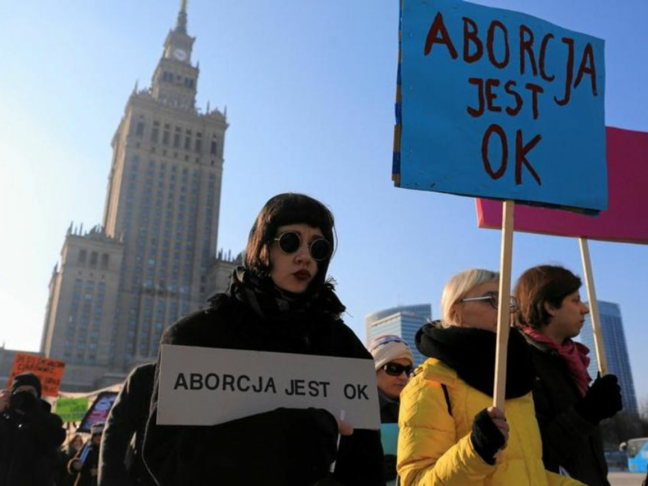 Manifestation pour le droit à l'IVG en Pologne, 2020