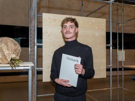 Tristan Bartolini le jour de la remise du prix Humanité