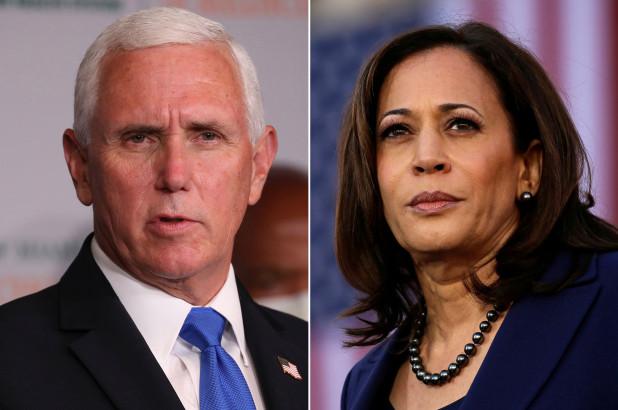 Mike Pence, Kamala Harris, candidats à la vice-présidence des USA