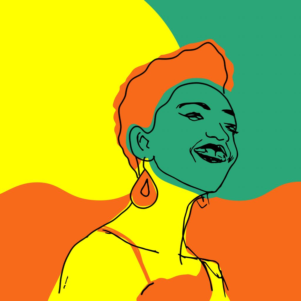 Rokhaya Diallo, illustration