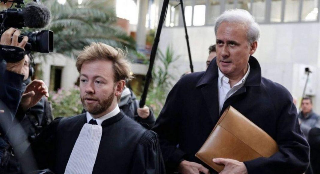 Georges Tron avec son avocat Antoine Vey en 2018