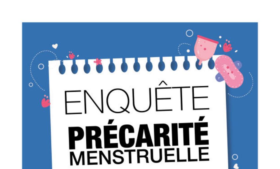 Visuel de l'enquête sur la précarité menstruelle