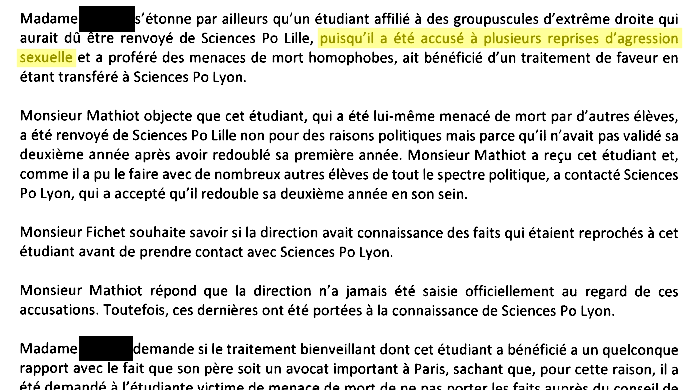 extrait du procès verbal du conseil d'administration sciences po Lille 8 octobre 2020
