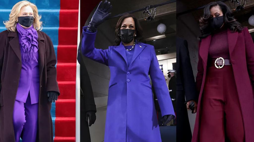 Hillary Clinton, Kamala Harris et Michelle Obama lors de l'investiture de Joe Biden