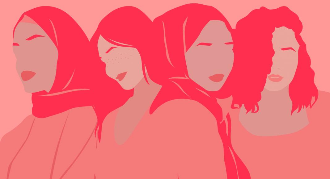 Illustration : femmes musulmanes portant le voile ou non