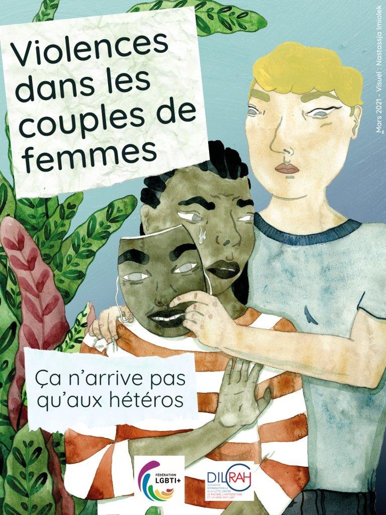 Affiche de sensibilisation de la Fédération LGBTI+