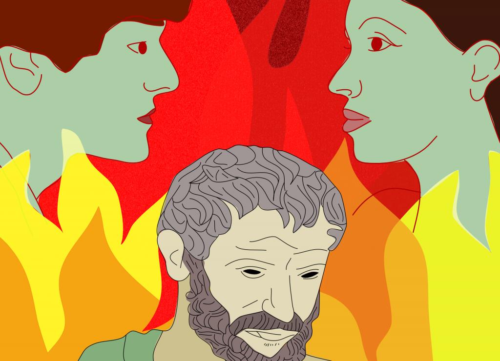 Héraclite était genderfluid, illustration par Charly Utecht