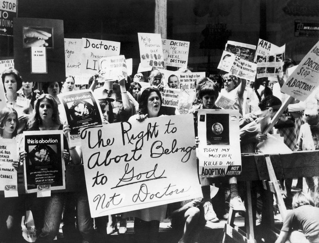 Manifestation anti-avortement à New-York en 1973